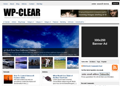 WP-Clear -тема WordPress