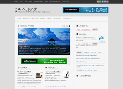 WP-Launch - тема WordPress