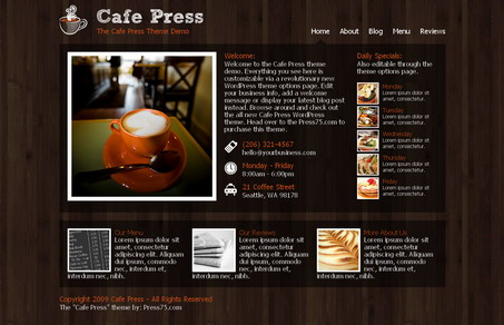 wordpress theme cafepress