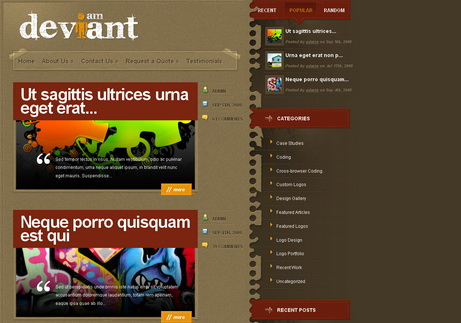 Deviant - тема  для WordPress