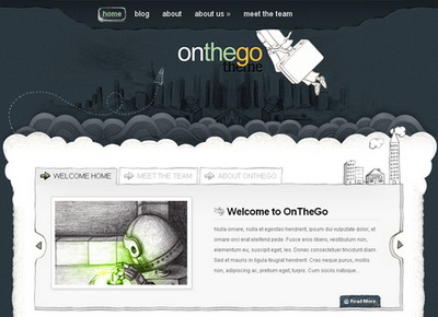 OnTheGo - тема WordPress
