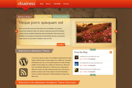 eBusiness - тема для wordpress