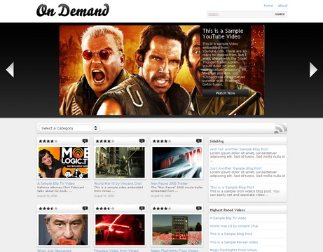 On Demand - тема wordpress