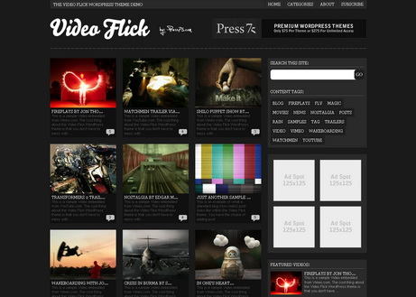 Video Flick - тема для wordpress