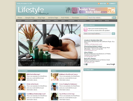 Lifestyle - тема wordpress