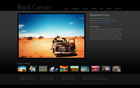Black Canvas - тема для wordpress