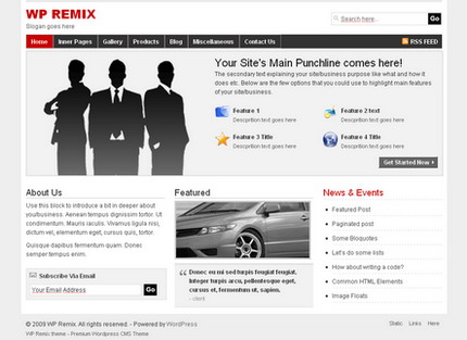WP Remix v3 - тема WordPress