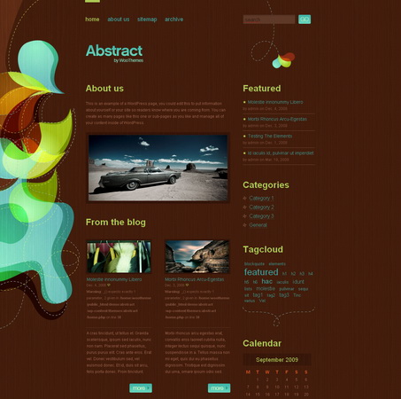 Abstract v 2.0 - тема WordPress