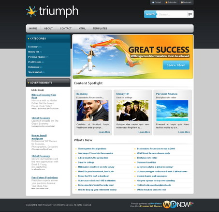 Triumph - тема Wordpress