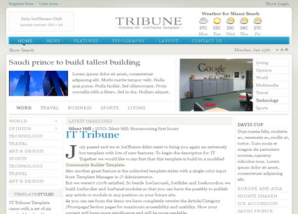 IT Tribune - шаблон Joomla!