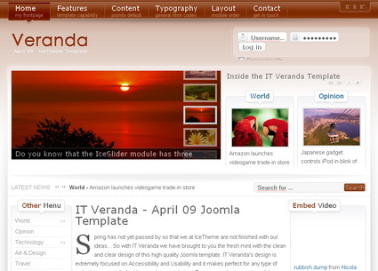 IT Veranda - шаблон Joomla!