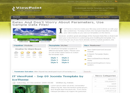 IT ViewPoint - шаблон Joomla!