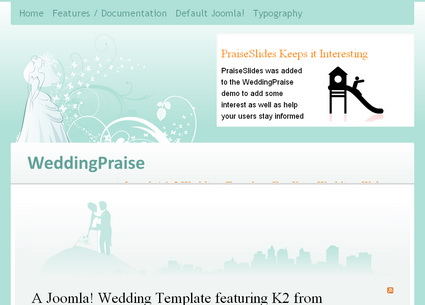 WeddingPraise - шаблон Joomla!