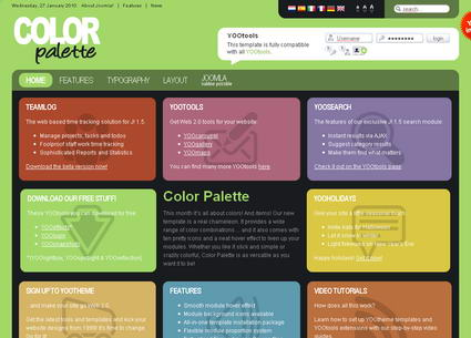 Color Palette - шаблон Joomla!